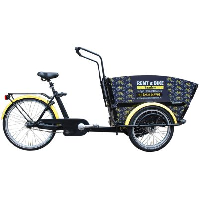 Lastenrad mit 3 Rädern. Geeignet für 4 (kleine Kinder)