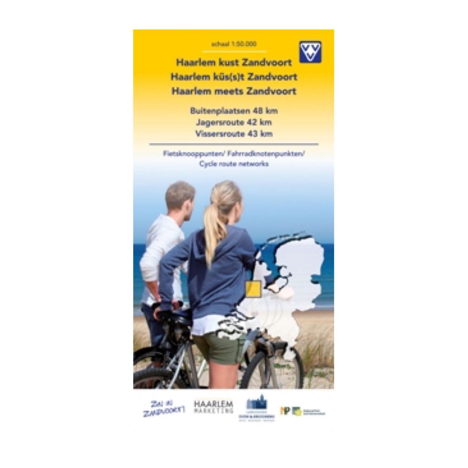 fietskaart Zandvoort kust